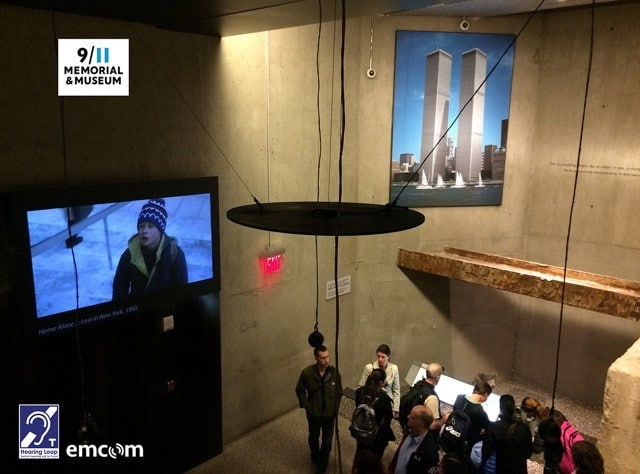 Overhead Hearing Loop used at the 9/11 Memorial Museum
